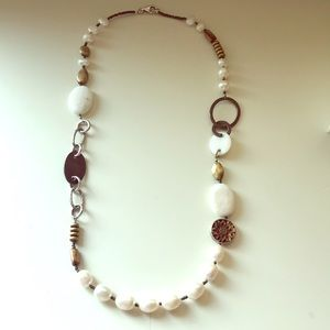 Silpada silver and fresh water pearl necklace